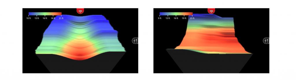 LOWRANCE FishHunter 3D bottom mapping