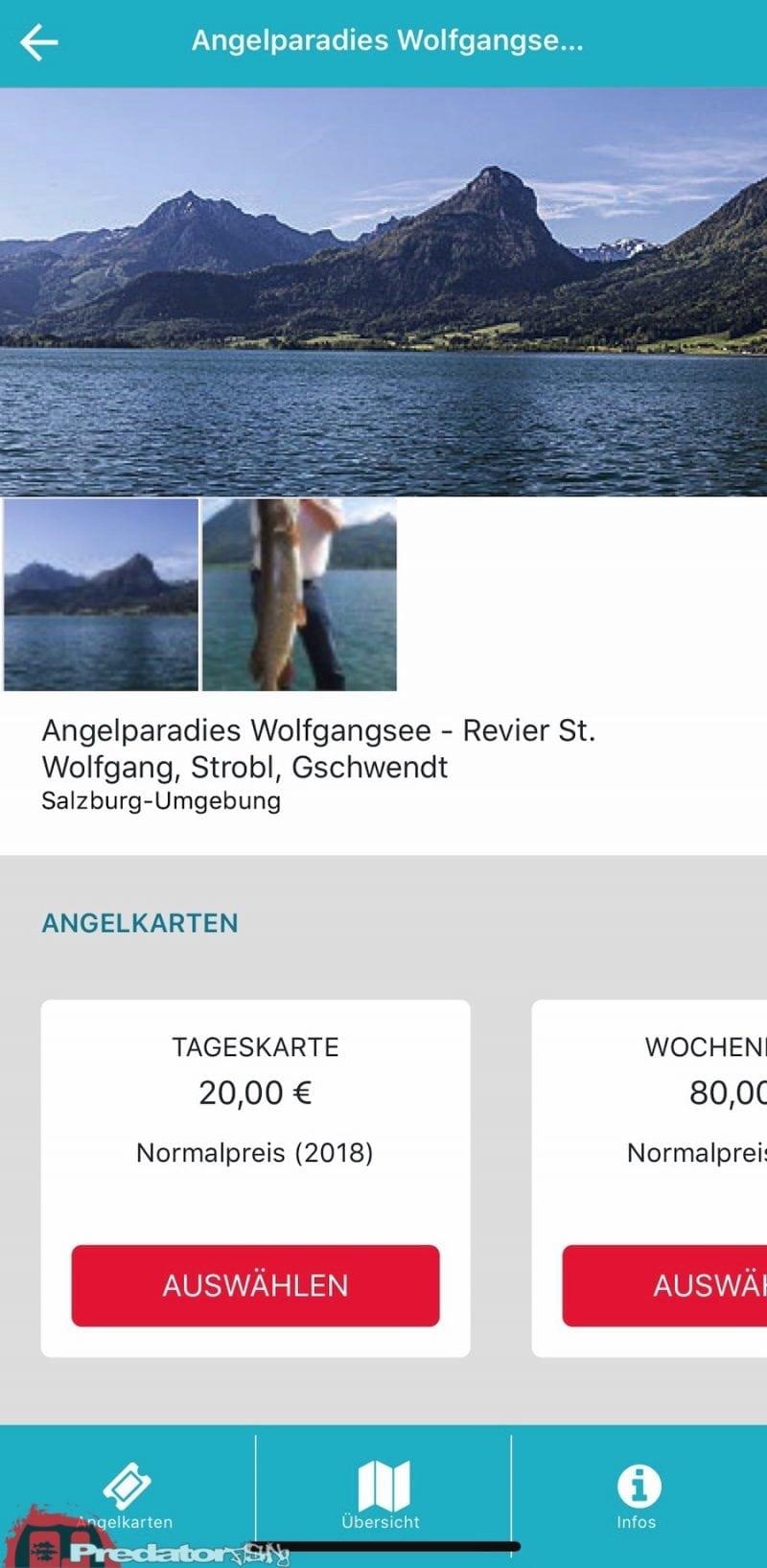Raubfisch-Angeln am Wolfgangsee Lizenzen